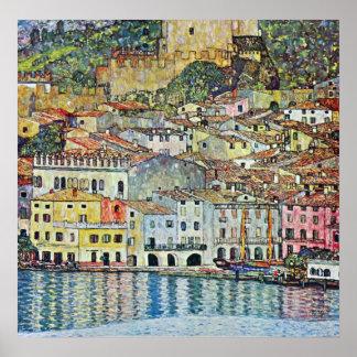 Malcena en el Gardasee de Gustavo Klimt Posters