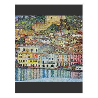 Malcena en el Gardasee de Gustavo Klimt Tarjeta Postal