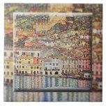 Malcesine en el lago Garda (1913) Azulejo Ceramica