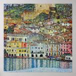 Malcesine en el lago Garda, Gustavo Klimt, arte de Posters