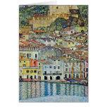 Malcesine en el lago Garda, Gustavo Klimt, arte de Tarjeta