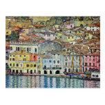 Malcesine en el lago Garda, Gustavo Klimt, arte de Postales