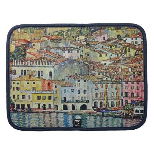 Malcesine en el lago Garda por Klimt, arte Nouveau Planificador