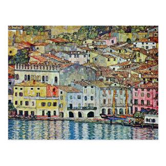 Malcesine en el lago Garda por Klimt, arte Nouveau Postales