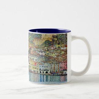 Malcesine en el lago Garda por Klimt arte Nouveau Tazas