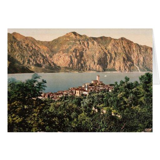 Malcesine, Garda, lago de, vintage Photochro de It Tarjeta De Felicitación
