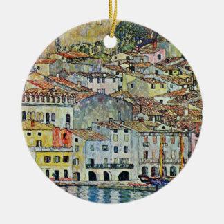 Malcesine on Lake Garda By Gustav Klimt Ceramic Ornament