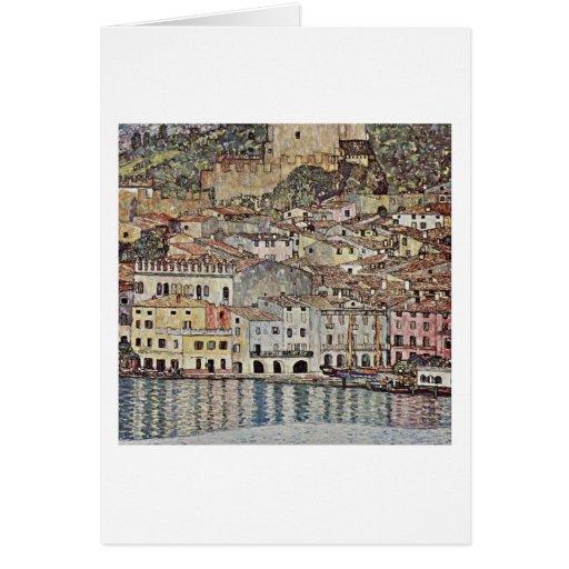 Malcesine On Lake Garda By Gustav Klimt Greeting Card