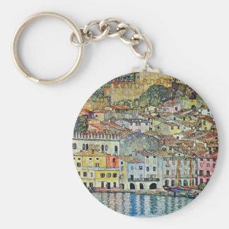 Malcesine on Lake Garda By Gustav Klimt Keychain