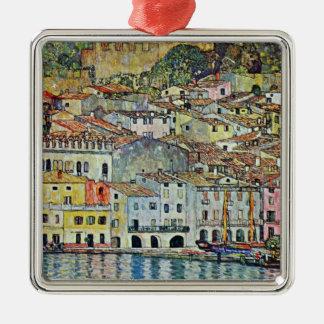 Malcesine on Lake Garda By Gustav Klimt Metal Ornament