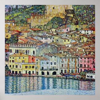 Malcesine on Lake Garda By Gustav Klimt Poster