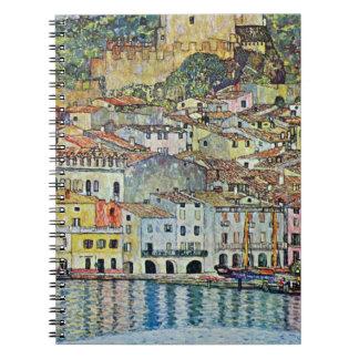Malcesine on Lake Garda By Gustav Klimt Spiral Notebook