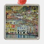 Malcesine on Lake Garda By Klimt, Art Nouveau Christmas Ornament