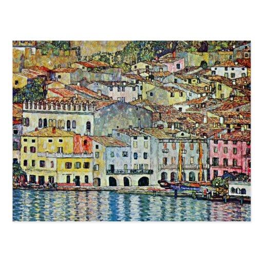 Malcesine on Lake Garda By Klimt, Art Nouveau Post Cards