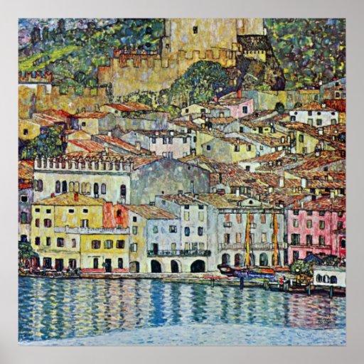 Malcesine on Lake Garda By Klimt, Art Nouveau Print