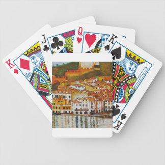 Malcesine on Lake Garda cute Bicycle Card Decks