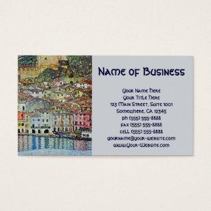 Lake garda business cards templates zazzle malcesine on lake garda gustav klimt vintage art business card reheart Gallery
