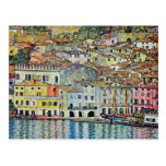 Malcesine on Lake Garda, Gustav Klimt, Vintage Art Post Cards