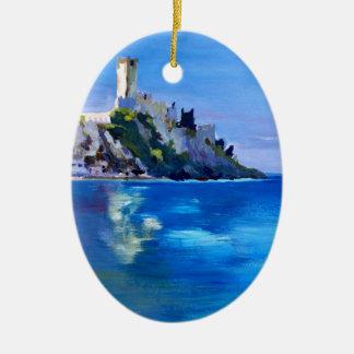 Malcesine with Castello Scaligero Ceramic Ornament