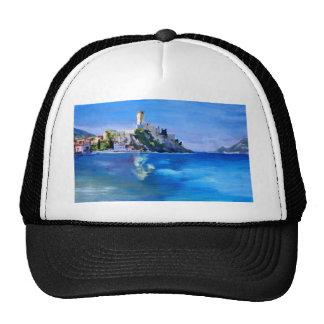 Malcesine with Castello Scaligero Trucker Hat