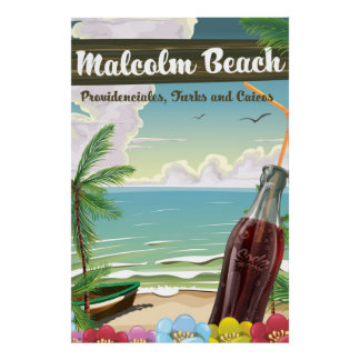 Malcolm Beach, Providenciales, Turks and Caicos Poster