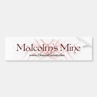 Malcolm Car Bumper Sticker