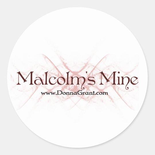 Malcolm Classic Round Sticker