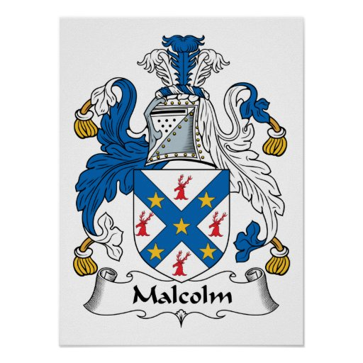 Malcolm Family Crest Poster