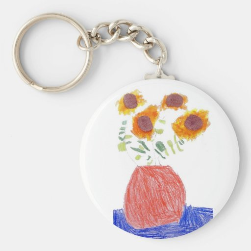 Malcolm Lange Basic Round Button Keychain