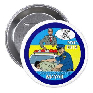 Malcolm Smith para el alcalde 2013 de NYC Pin Redondo De 3 Pulgadas