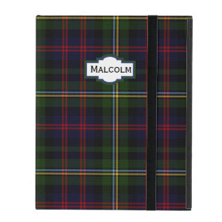 Malcolm Tartan Plaid Custom iPad Case