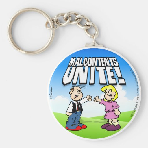 Malcontents Unite Basic Round Button Keychain