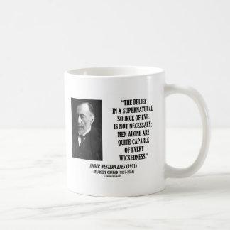 Maldad capaz del hombre malvado de la fuente de taza clásica