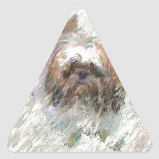 maldecir la lluvia pegatina triangular