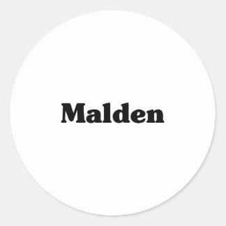 Malden Classic t shirts Round Sticker