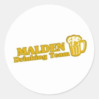Malden Drinking Team tee shirts Round Stickers