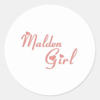 Malden Girl tee shirts Round Sticker