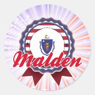 Malden MA Round Stickers