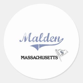 Malden Massachusetts City Classic Sticker