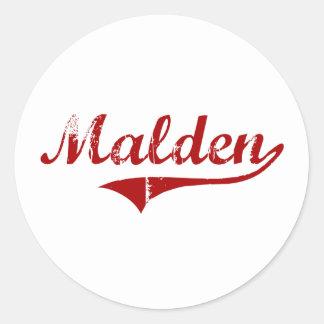 Malden Massachusetts Classic Design Sticker