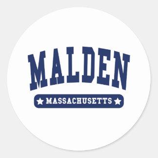 Malden Massachusetts College Style tee shirts Sticker