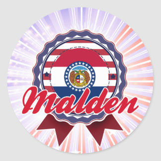 Malden MO Round Sticker