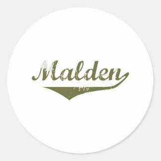 Malden Revolution t shirts Round Stickers