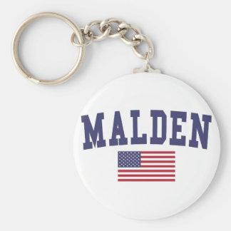 Malden US Flag Keychain
