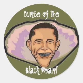 Maldición de la perla negra pegatina redonda