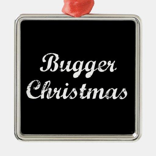 Maldiga el navidad adorno navideño cuadrado de metal