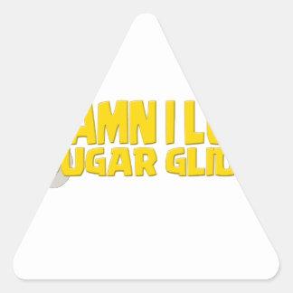 Maldito-Yo-amor-azúcar-Planeador Pegatina Triangular