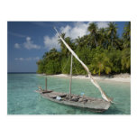 Maldivas, atolón masculino del norte, isla de Kuda Postal