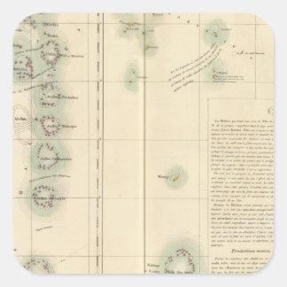 Maldivas e islas Asia 107 de Lakshadweep Pegatina Cuadrada