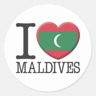Maldivas Pegatina Redonda